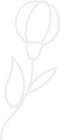 Silhouette fleur verticale